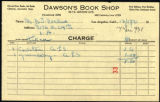 Dawson's Book Shop receipt