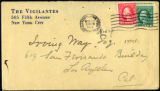 Envelope from Carman's letter to Way, 1918 November 29