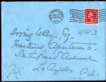 Envelope from Carman's letter to Way, 1913 January 12