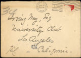 Envelope from Carman's letter to Way, 1906 April 21