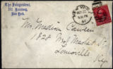 Envelope from Carman's letter to Cawein, 1891 October 22