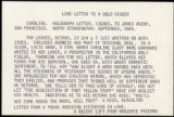 Seller's description of Caroline's letter to Avery dated September 1849