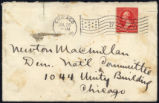 Envelope from Ade's letter to MacMillan dated 1900 July 24