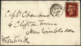 Envelope from Cruikshank's letter to Chambers, 1867 June 26