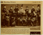 Clipping of photograph from first meeting of International Council of Women
