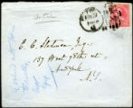 Envelope from Howells' letter to Stedman, 1894 November 23