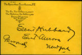 Envelope addressed to Elbert Hubbard