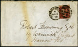 Envelope from Morris' letter to Browning, 1879 November 11