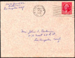 Envelope from White's letter to Perkins, 1934 February 19
