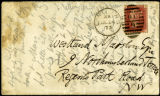Envelope from Morris' letter to Marston, 1873 June 24
