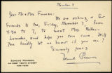 Edmund Pearson letter to Mr. and Mrs. Forman