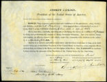 Edward H. Perkins Midshipman certificate, 1832 May 1
