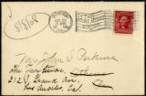 Envelope from letter to Perkins, 1908 July 29