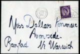 Envelope from Sackville's letter to Kenmare, 1962 April 24
