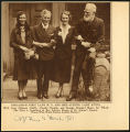 Photograph of Lady Astor, Amy Johnson, Charlie Chaplin, and George Bernard Shaw, 1931 March 8