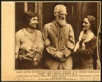Photograph of Lady Astor, George Bernard Shaw, and Helen Keller, 1932 July 24