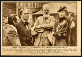 Photograph of three theatrical celebrities and George Bernard Shaw, 1936 August 9
