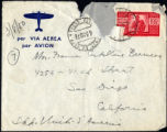 Envelope from Berenson's letter to Castellan Berenson dated 1950 March 8