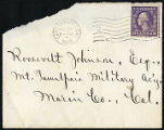 Envelope from Sterling's letter to Johnson, 1918 October 24