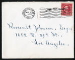 Envelope from Sterling's letter to Johnson, 1926 August 4
