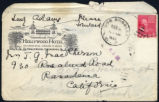 Envelope from Adams' letter to MacPherson, 1939 December 5