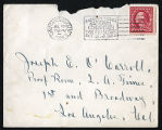 Envelope from Sterling's letter to Johnson, 1923 July 16