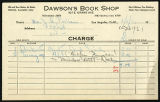 Dawson's Book Shop receipt, 1931 February 11