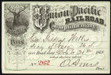 Union Pacific Railroad pass, 1868 December 31