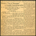 "Wells's ""Pot of Message"" a candid autobiography, 1934 November 4"