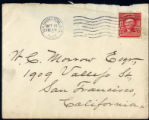 Envelope from Bierce's letter to Morrow, 1907 October 9
