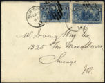 Envelope from Bigelow's letter to Way, 1894 Feburary 16