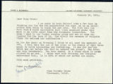 James Blaisdell letter to Dorothy Drake, 1951 January 16