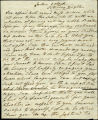 Henry Siddons letter to Miss Wilson