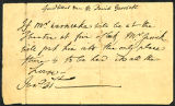 David Garrick letter to Mr. Warnecke
