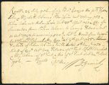 David Garrick receipt to George Garrick