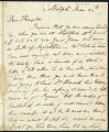 David Garrick letter to Captain Edward Thompson